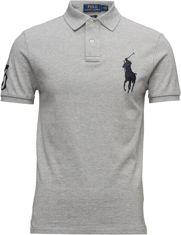 Ralph Lauren Polo pour homme Big Pony coupe ajustée Gris Medium