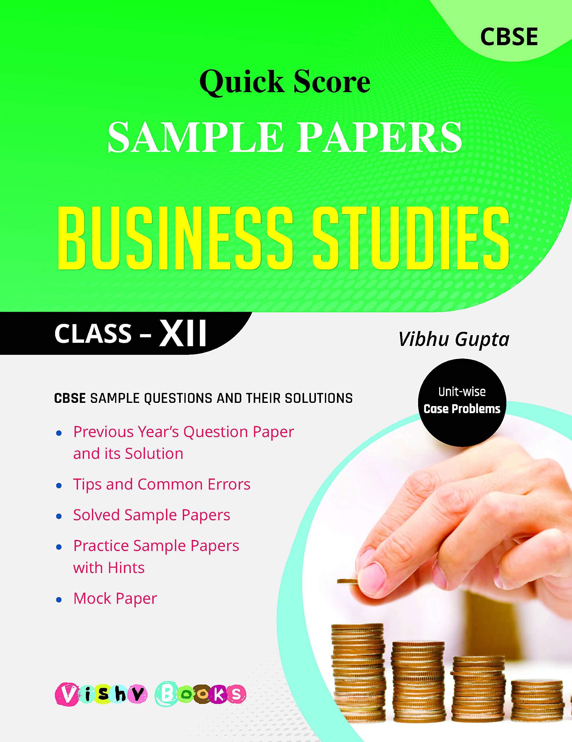 quick score sample papers business studies amazon in vibhu gupta