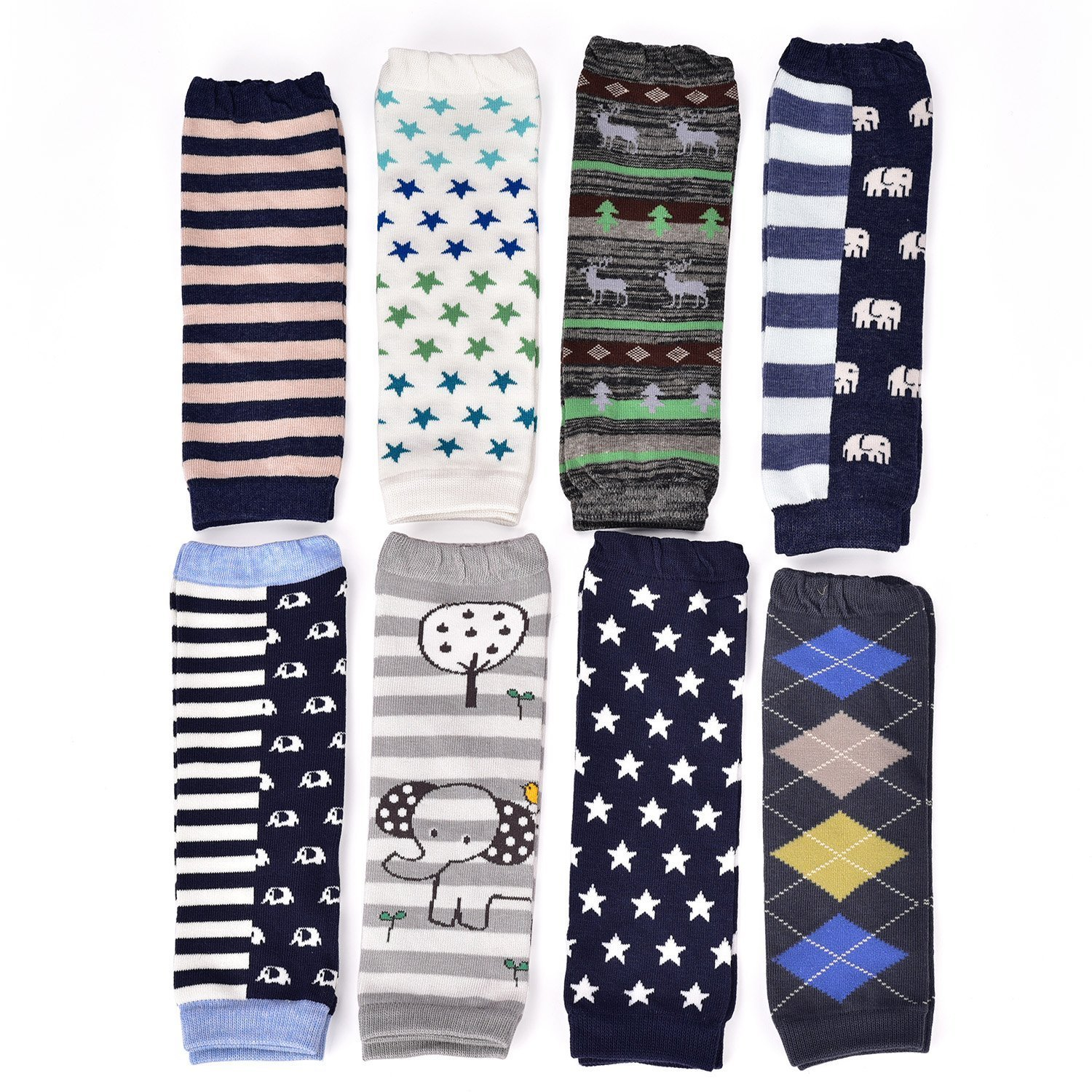 6 Pairs Toddler Boys Leg Warmers, Baby Boy Leggings Knee Pads Size 0-6 Months 6-24 Months