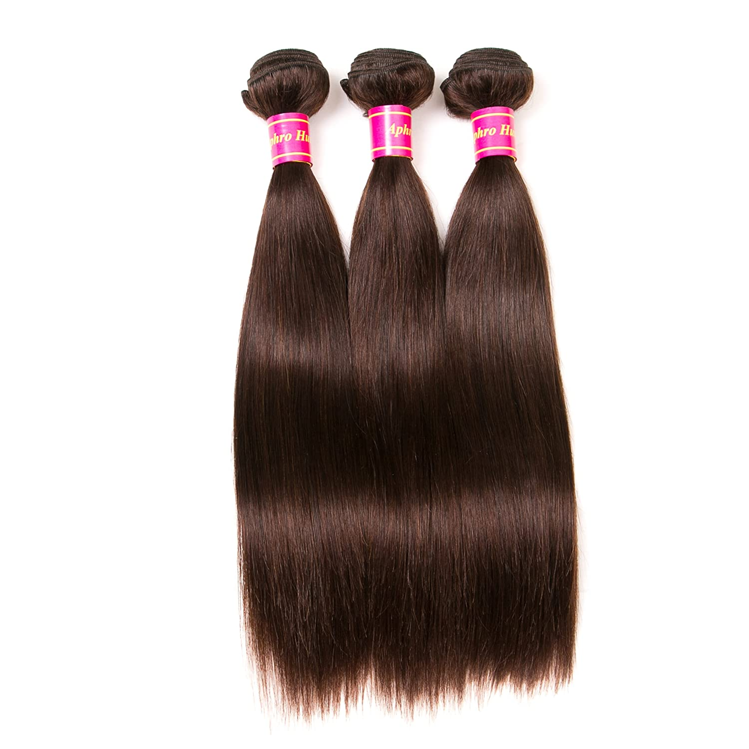 Human Hair Weaves Hair Weaves Allrun Pre-colored 2# Dark Brown 4 Bundles One Pack Indian Body Wave Bundles Non Remy Sheeding Free 100% Human Hair Extensions Cheap Sales 50%