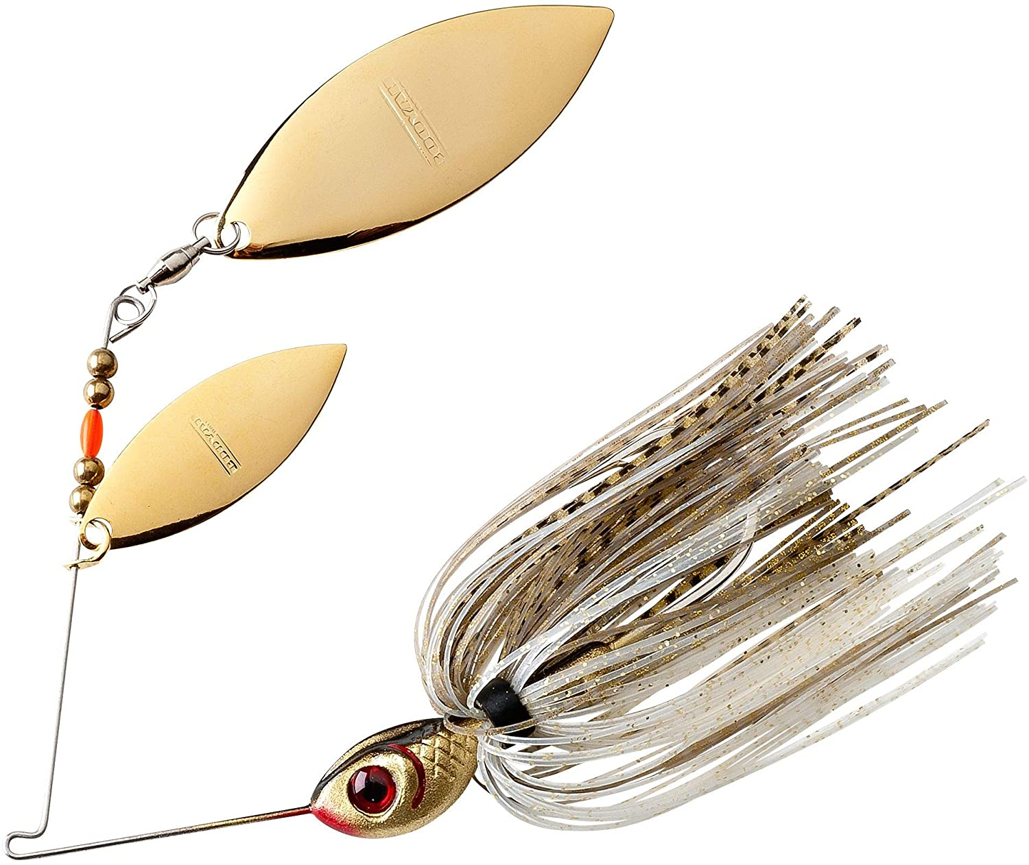 BOOYAH Blade Spinner-Bait Bass Fishing Lure, Gold Shiner, Double Willow (1/2 oz) : Fishing Bait Traps : Sports & Outdoors