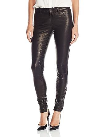 c574d63207a956 Amazon.com: J Brand Jeans Women's Mid Rise Stretch Leather, Noir, 31 ...