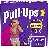 Pull-Ups Night-Time Girls' Training Pants, 2T-3T, 50 Ct, Disney Princesses, Girls' 2T-3T (50 Count) (10036000482178)