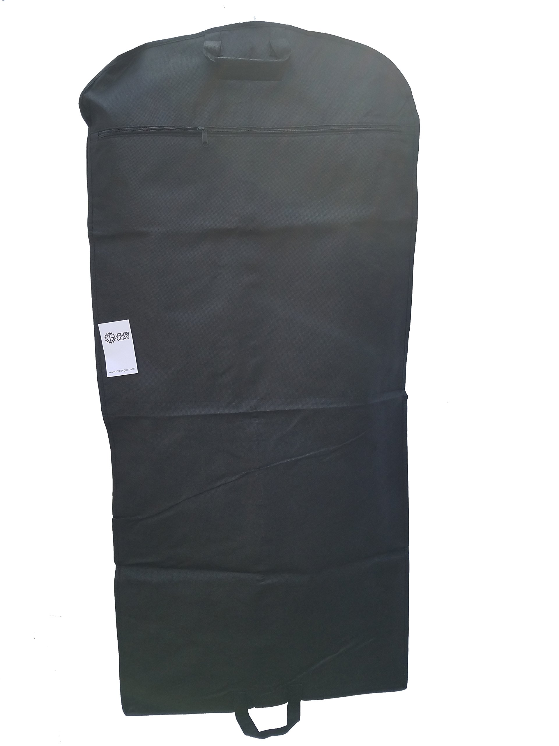 NEW 48'' Breathable Gusseted Travel Garment Bag Cover - For Suits Dress, Clothes, Tux, Jersey Storage Travel (1 PACK) by ImpecGear (Image #6)