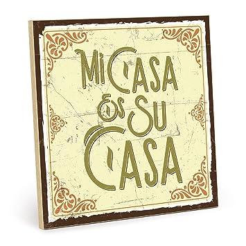 Type plástico Cartel de Madera, diseño con Texto - su casa ...