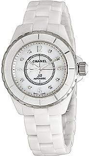 chanel j12 watch. chanel men\u0027s h2423 j12 diamond dial watch