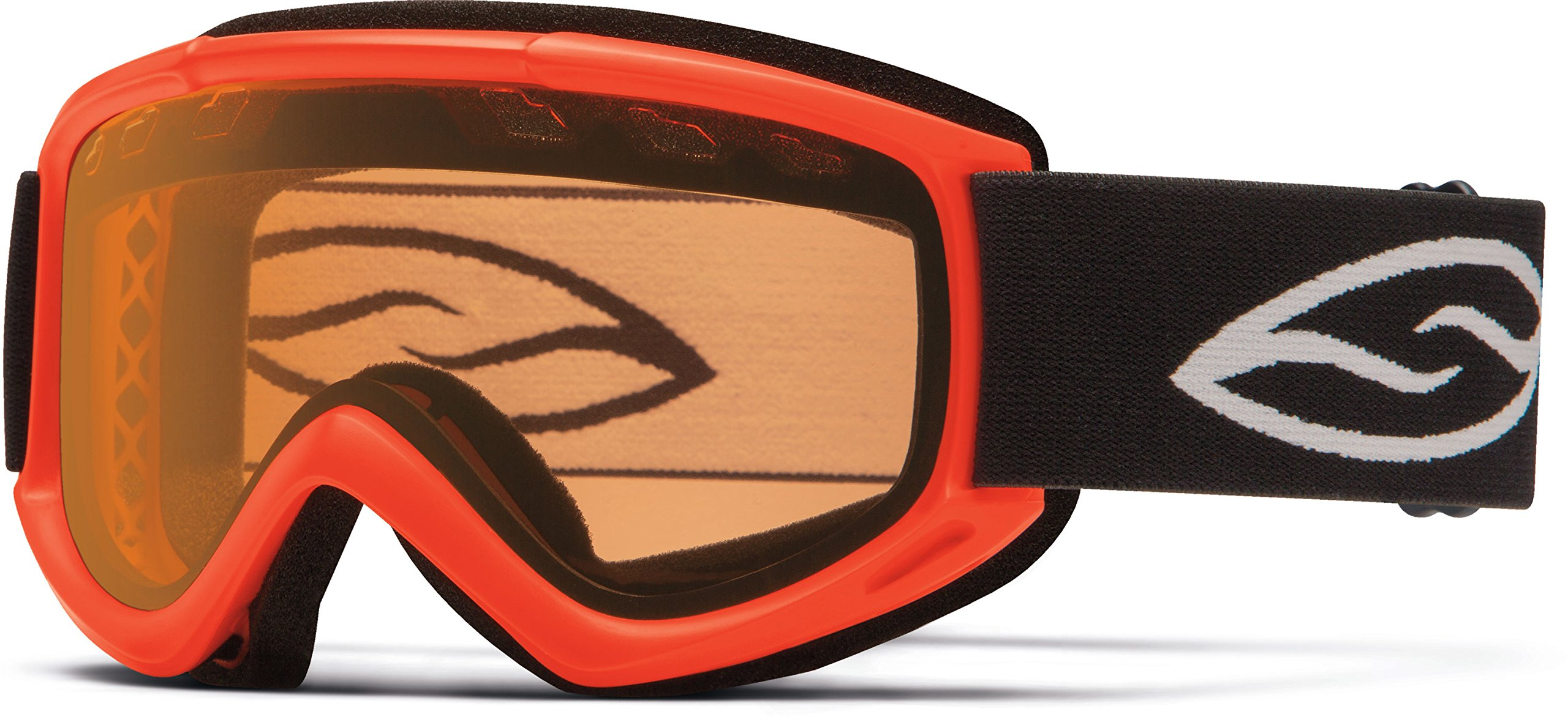 Smith Optics Cascade Airflow Series Snocross Snowmobile Goggles Eyewear - Neon Orange/Gold Lite / One Size Fits All by Smith Optics