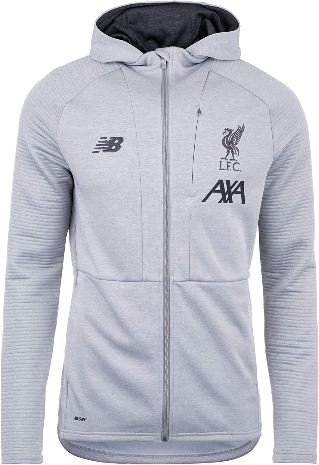 Amazon Com Liverpool Fc Grey Marl Polyester Mens Soccer Training Travel Zip Hoodies 2019 2020 Lfc Official Clothing