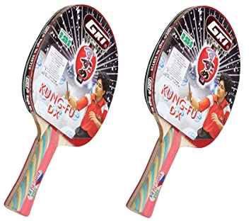 c61ac74ae47 Buy GKI Kung Fu DX Table Tennis Racquet (Pack of 2) Online at Low Prices in  India - Amazon.in