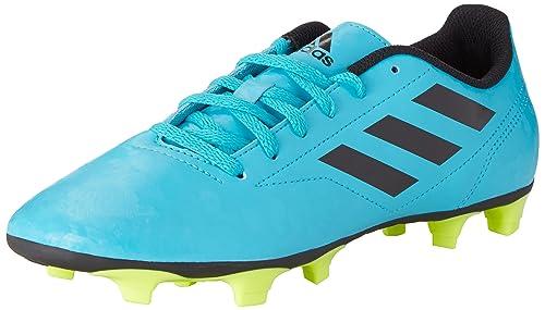 adidas Conquisto II Fg, Scarpe per Allenamento Calcio Uomo, Turchese (Energy BlueCore BlackSolar Yellow), 41 13 EU
