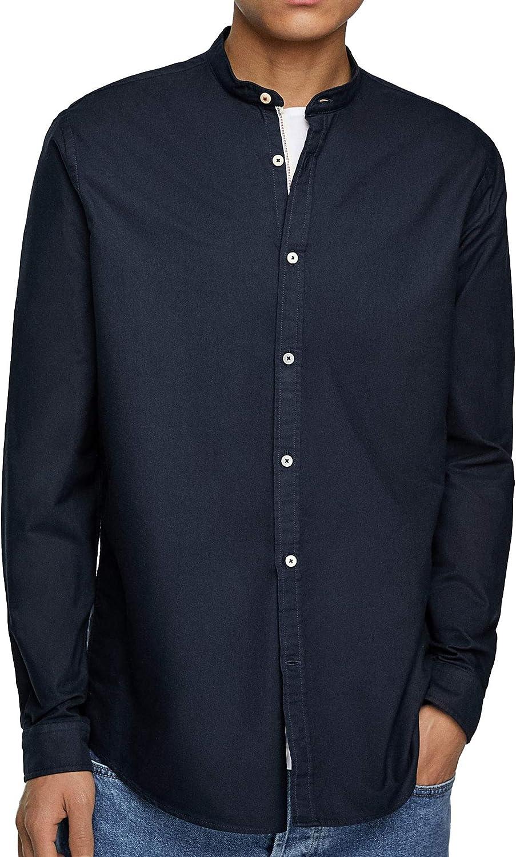 Zara - Camisa Casual - para Hombre Azul S: Amazon.es: Ropa y accesorios