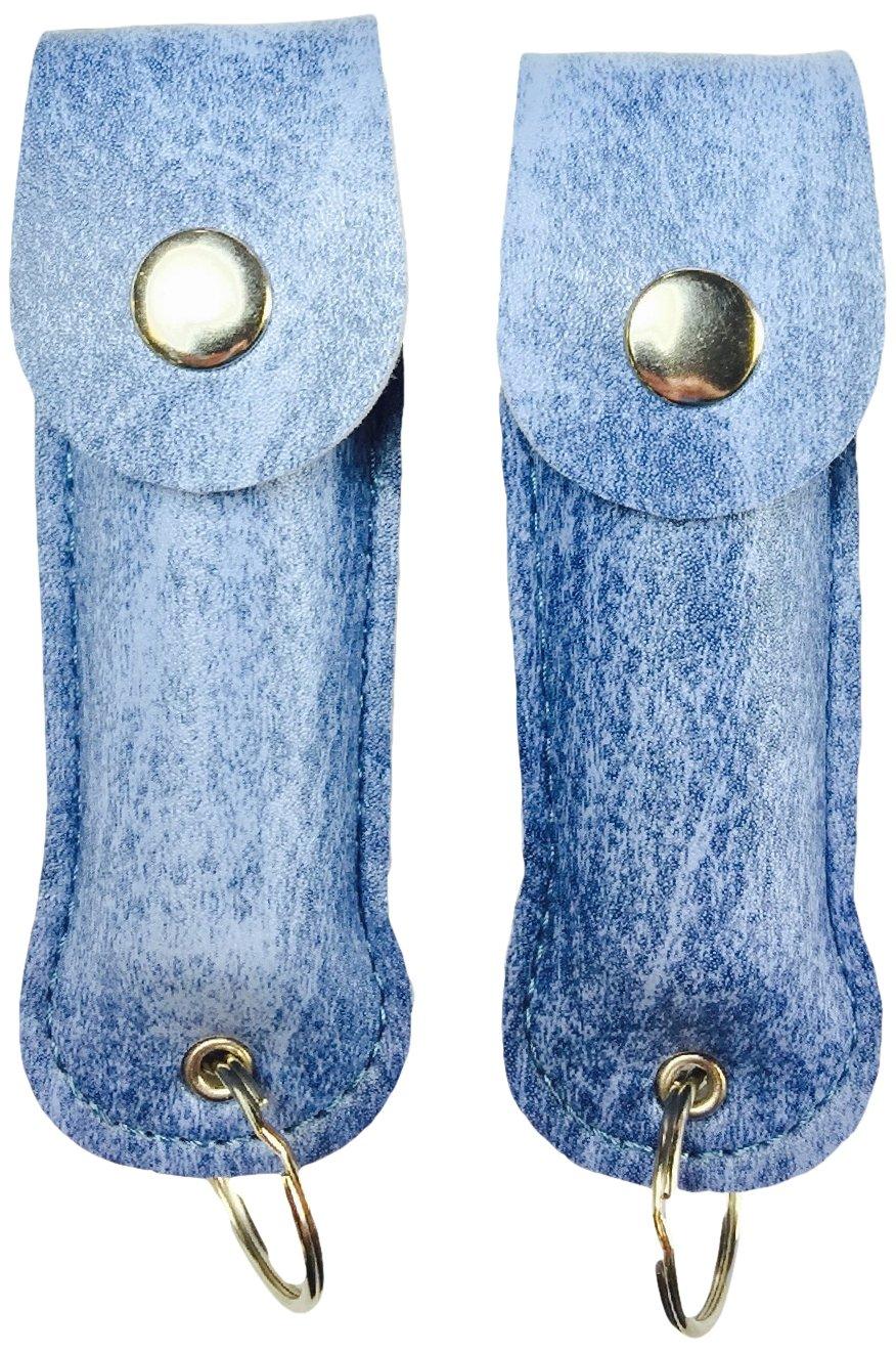 Police Magnum OC-17 Pepper Spray with UV Dye and Twist Top (2-Pack), Blue Denim