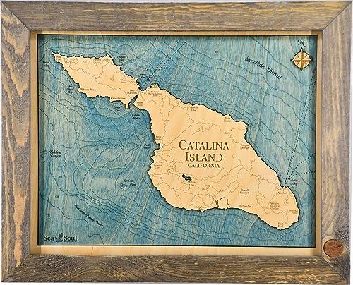 Sea Soul Catalina Island Nautical Chart Art