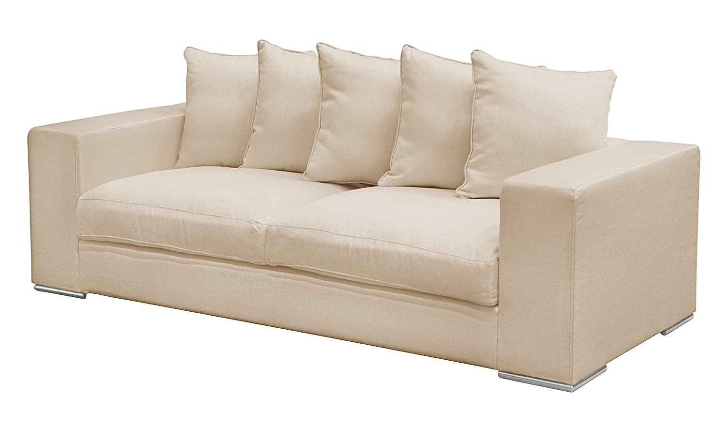 AMARIS Elements SO003.3 Sofa 3-Sitzer 224 x 106 x 65/45 cm, creme