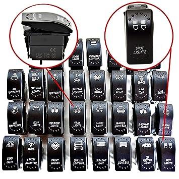Heck Beleuchtung LKW Arbeitsscheinwerfer hinten - Tray Lights JJ21 LED-Mafia Symbol Kippschalter Wippschalter Schalter Auto Boot KFZ LKW Licht 12V 24V