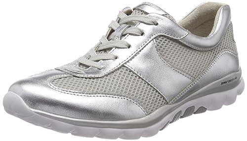 Gabor Shoes Rollingsoft, Zapatos de Cordones Derby para Mujer, Multicolor (Silber), 37.5 EU