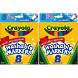 Crayola 8ct Washable Bold Broad Markers (Pack of 2)