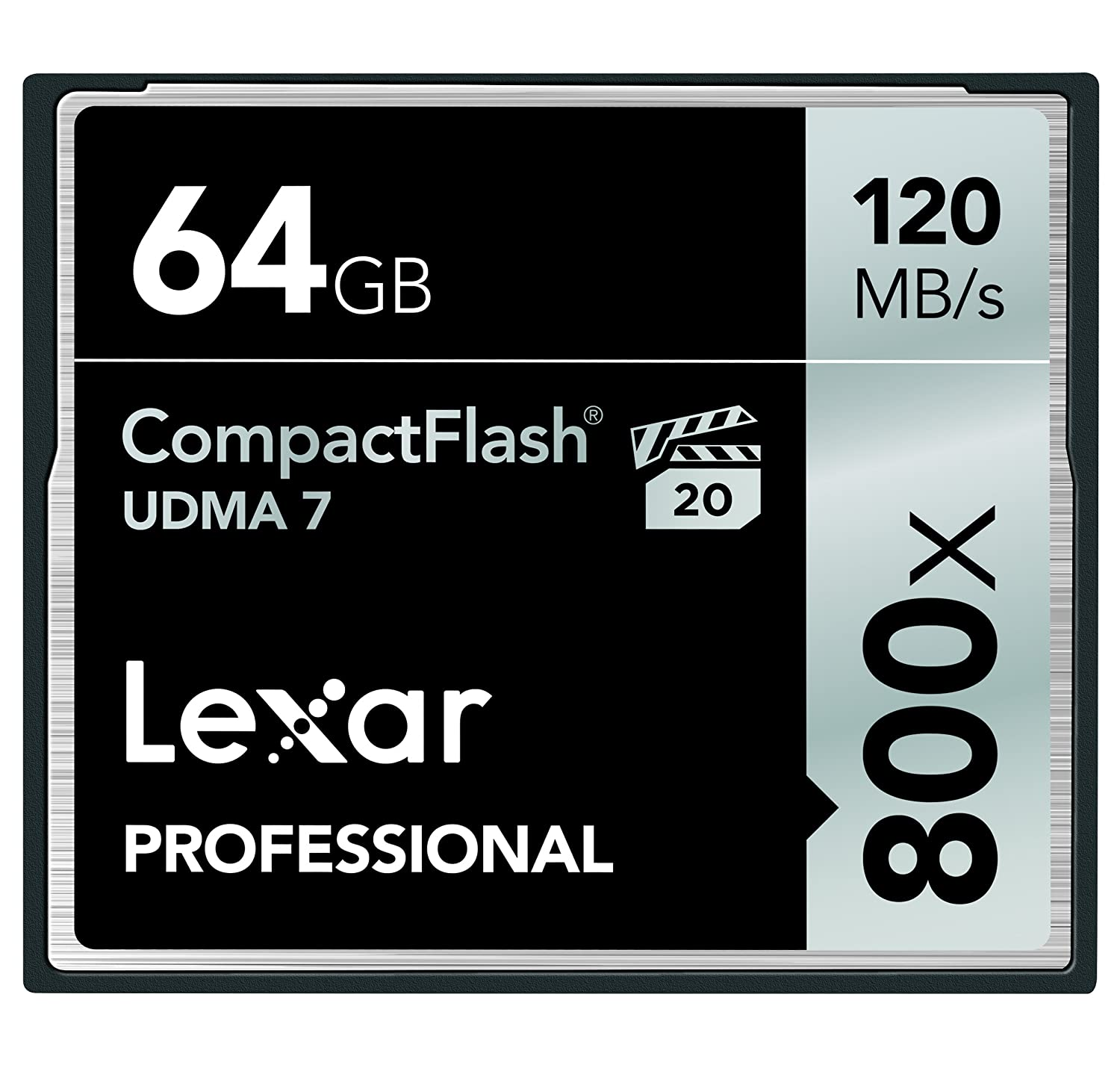 Lexar Professional 800 x 64GB VPG-20 CompactFlash Card (Up to 120MB/s Read) w/Free Image Rescue 5 Software LCF64GCRBNA800 LEXAR MEDIA INC