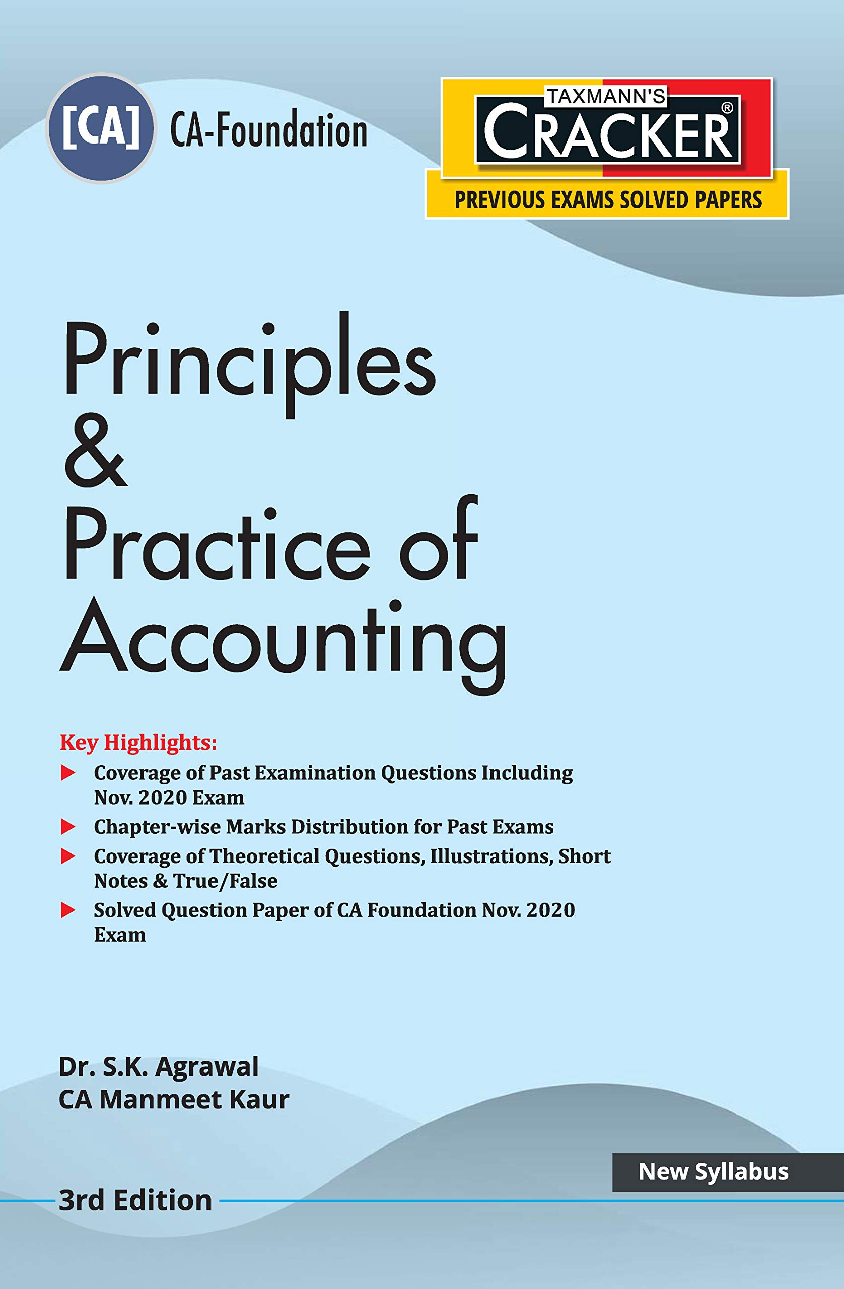 Taxmann's CRACKER – Principles & Practice of Accounting | CA-Foundation – New Syllabus | Updated till 31-10-2020 | 3rd Edition | 2021