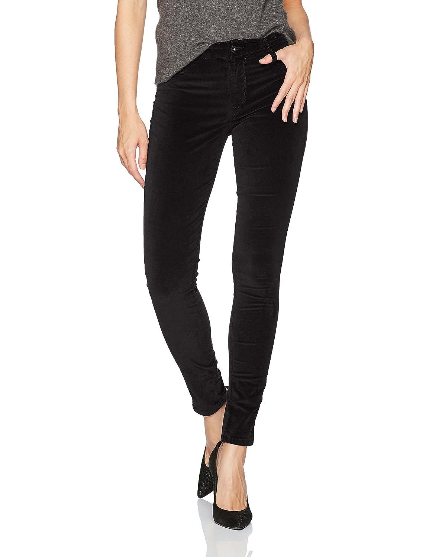 James Jeans Women's Twiggy Skinny Velveteen Pant in Black
