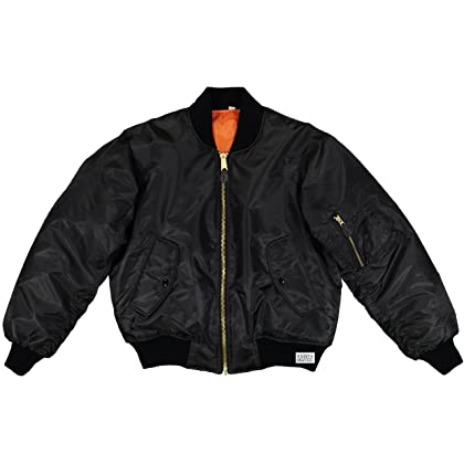 Army Universe MA-1 Air Force Military Bomber Flight Jacket with Pin (Black 6a49d6c8833