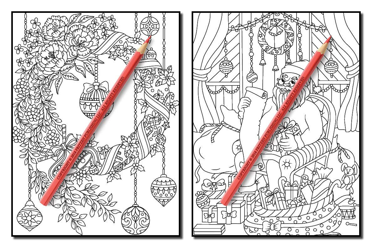 christmas coloring book an adult coloring book with fun easy and relaxing coloring