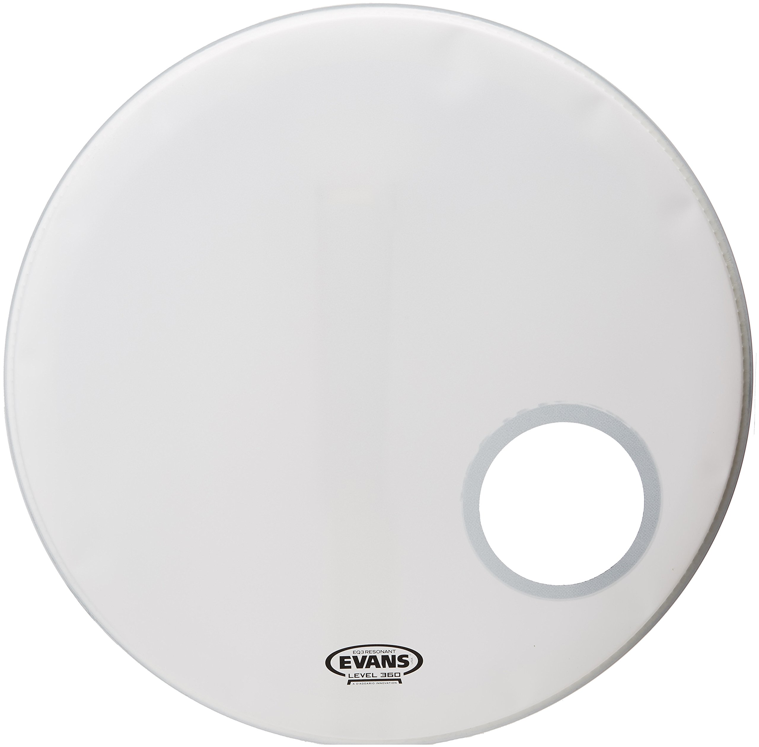 Evans EQ3 Resonant Coated White Bass Drum Head, 22 Inch