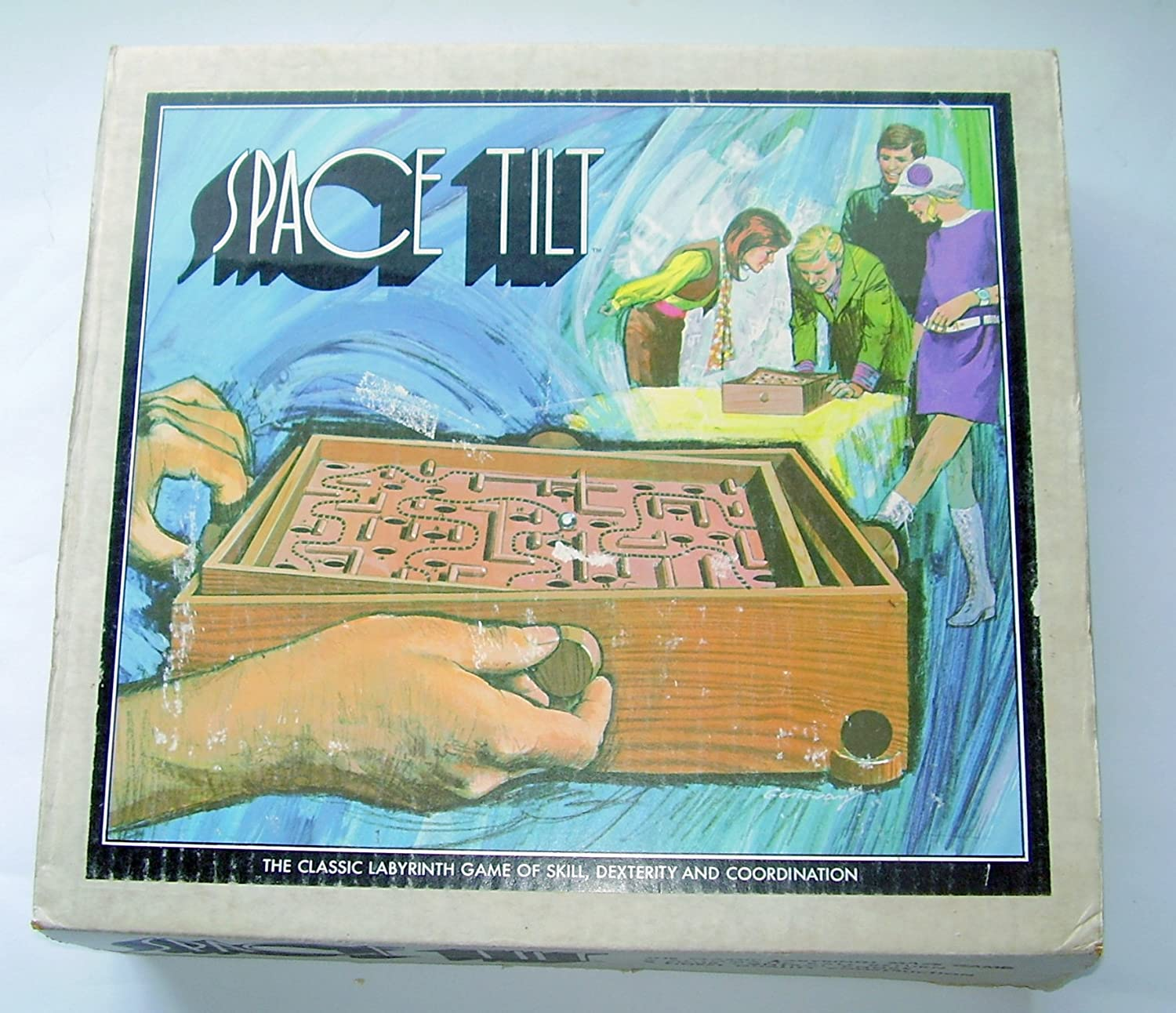 Amazon com: Vintage SPACE TILT Labyrinth Maze Game from the 60's or