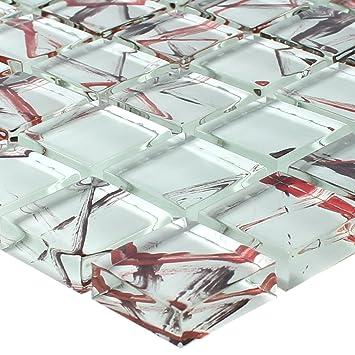 Glas Mosaik Ordabay Weiß   Wandfliesen   Mosaik-Fliesen   Glasmosaik ...