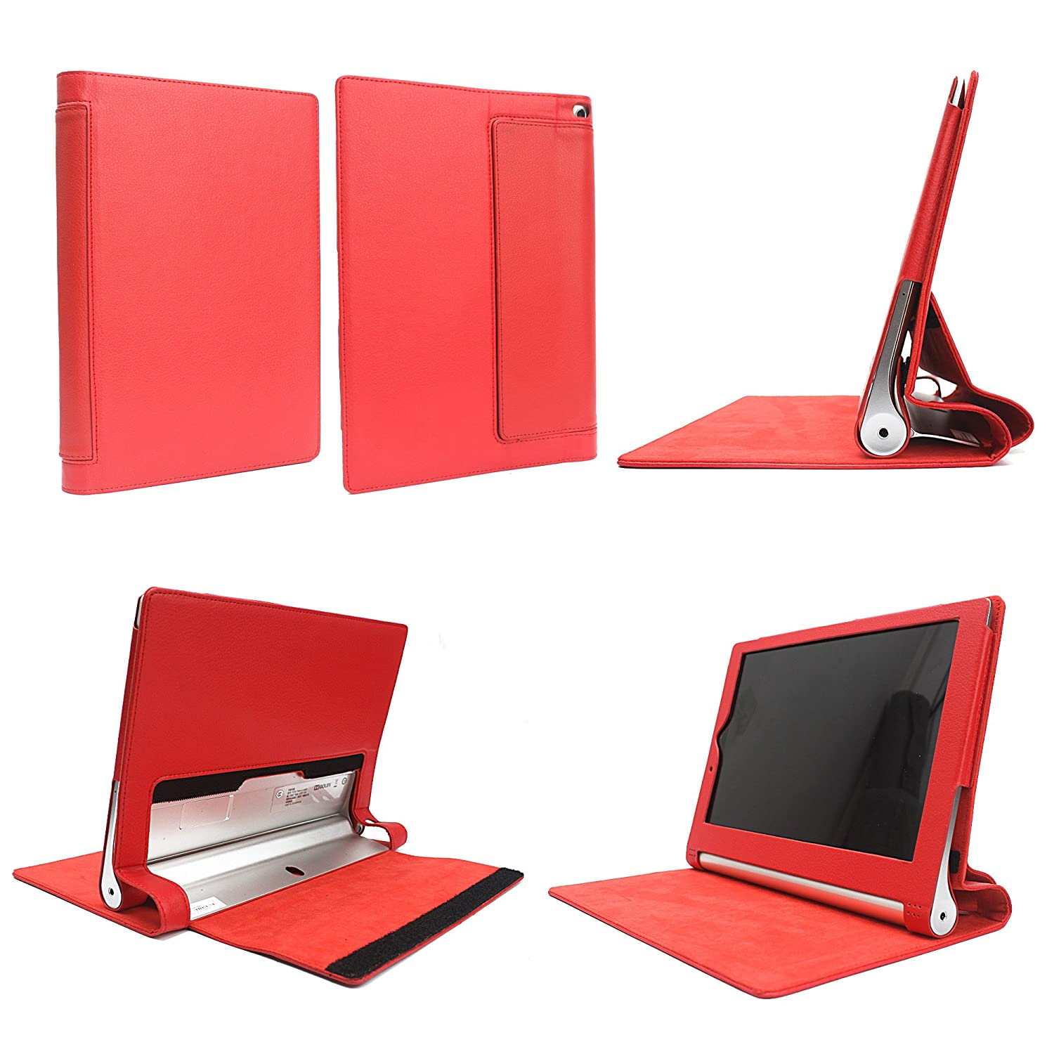 Premium funda de cuero con soporte Modo de Suspensión Para Lenovo Yoga Tablet2 10 (NOT fit Lenovo IdeaPad Yoga Tablet 10, 1st Gen or Lenovo IdeaPad ...