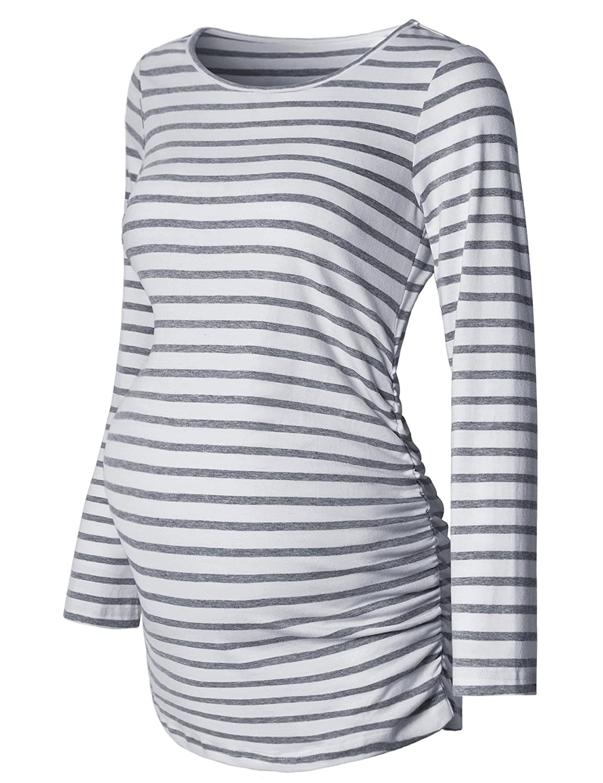Bhome SHIRT レディース B075V1CG6B S Grey and White Strip Grey and White Strip S, BRAND MAX VALUE 091b2c22