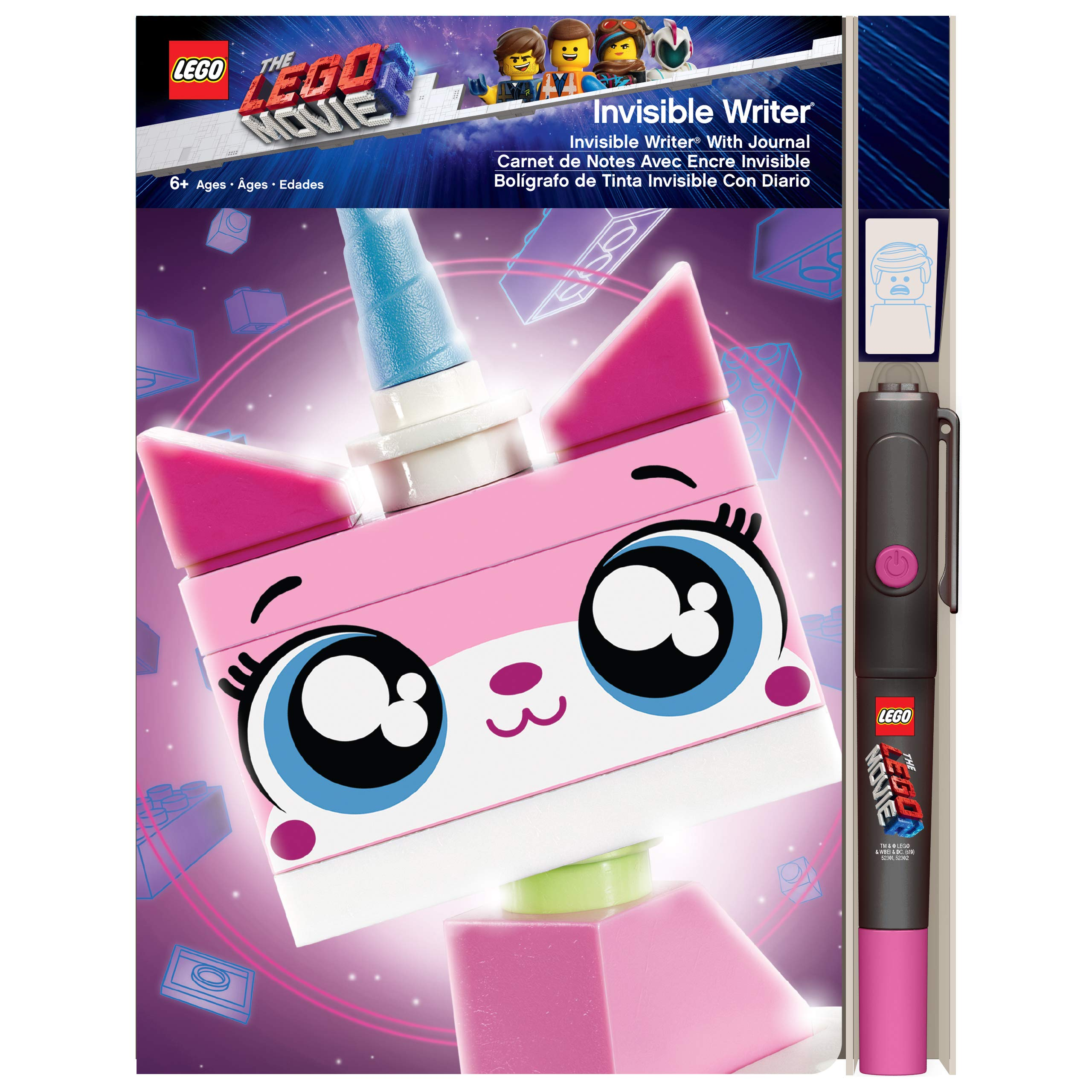 LEGO The Movie 2 Unikitty Invisible Writer with Journal by LEGO (Image #2)