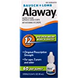 Bausch + Lomb Alaway Antihistamine Eye Drops, 0.34 Ounces/10 mL