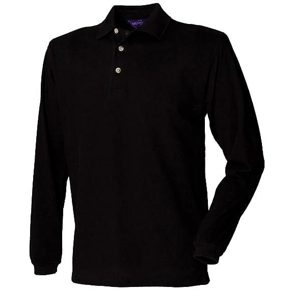 Henbury - Polo Manica Lunga 100% Cotone - Uomo  Amazon.it  Abbigliamento 91bfc23b164