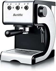 Amazon.com: Cafetera espresso Barsetto Cafetera de acero ...