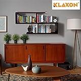 Klaxon Home Decor Wall Shelves/Book Shelf and Storage | Wall Shelves Wooden S Shape - (Brown,Matte Finish)(Do It Yourself – DIY)