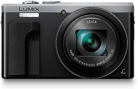 Panasonic Lumix DC-TZ80 - Cámara Compacta de 18,1 MP (Super Zoom, Objetivo F3.3-F6.4 de 24-720mm, Estabilizador Híbrido, Zoom de 30X, 4K, WiFi, Raw), Color Plata