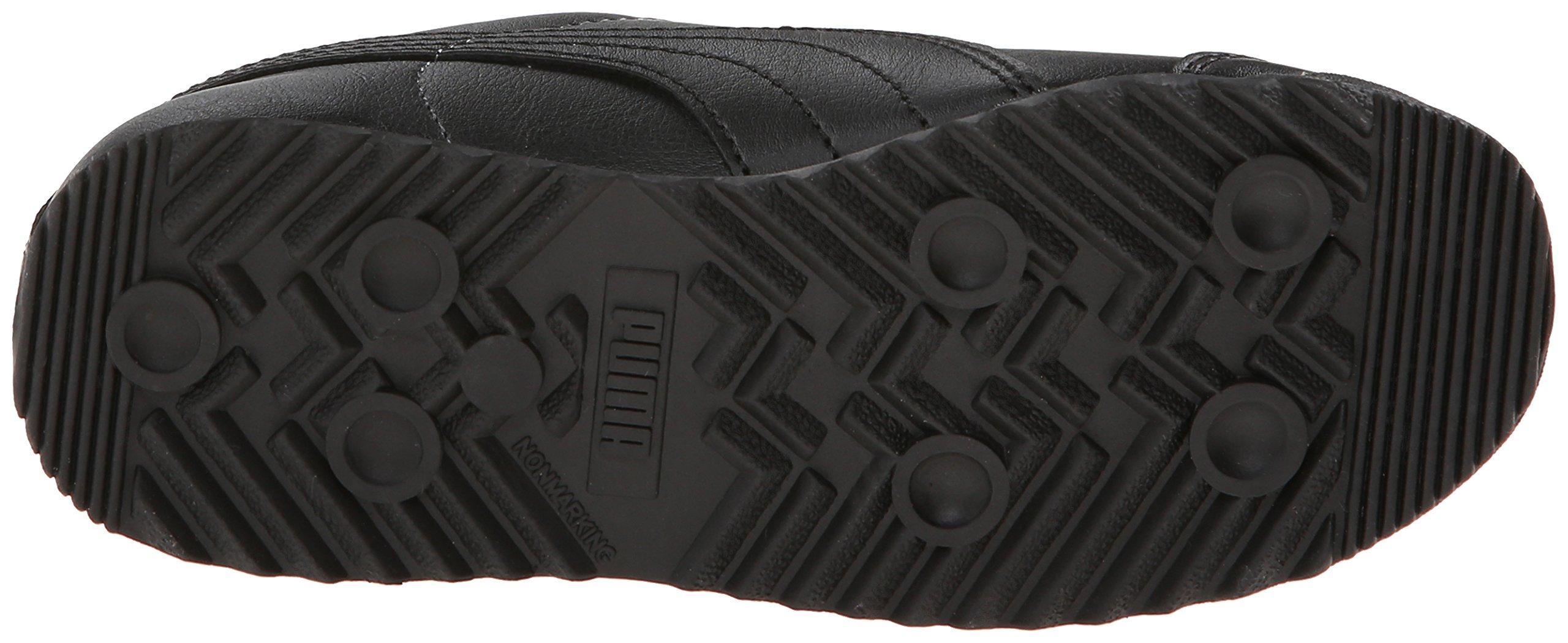 PUMA Roma Basic JR Sneaker , Black/Black, 1 M US Little Kid by PUMA (Image #3)