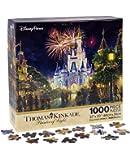 """Walt Disney World Thomas Kinkade Main Street U.S.A. Fireworks 27""""x20"""" 1000 Piece Puzzle"""