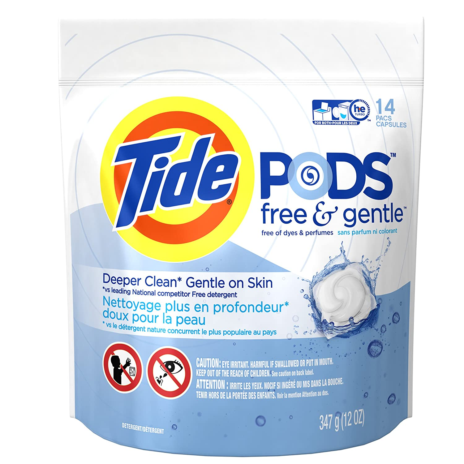 High Efficiency Detergent Brands Tide Pods Free Gentle He Turbo Laundry Detergent Pacs Unscented