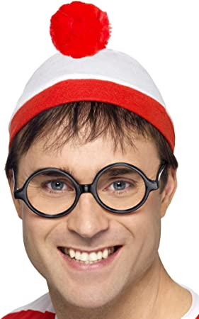 Wheres Wally Hat and Glasses Kit, Book Week, Wenda (disfraz ...