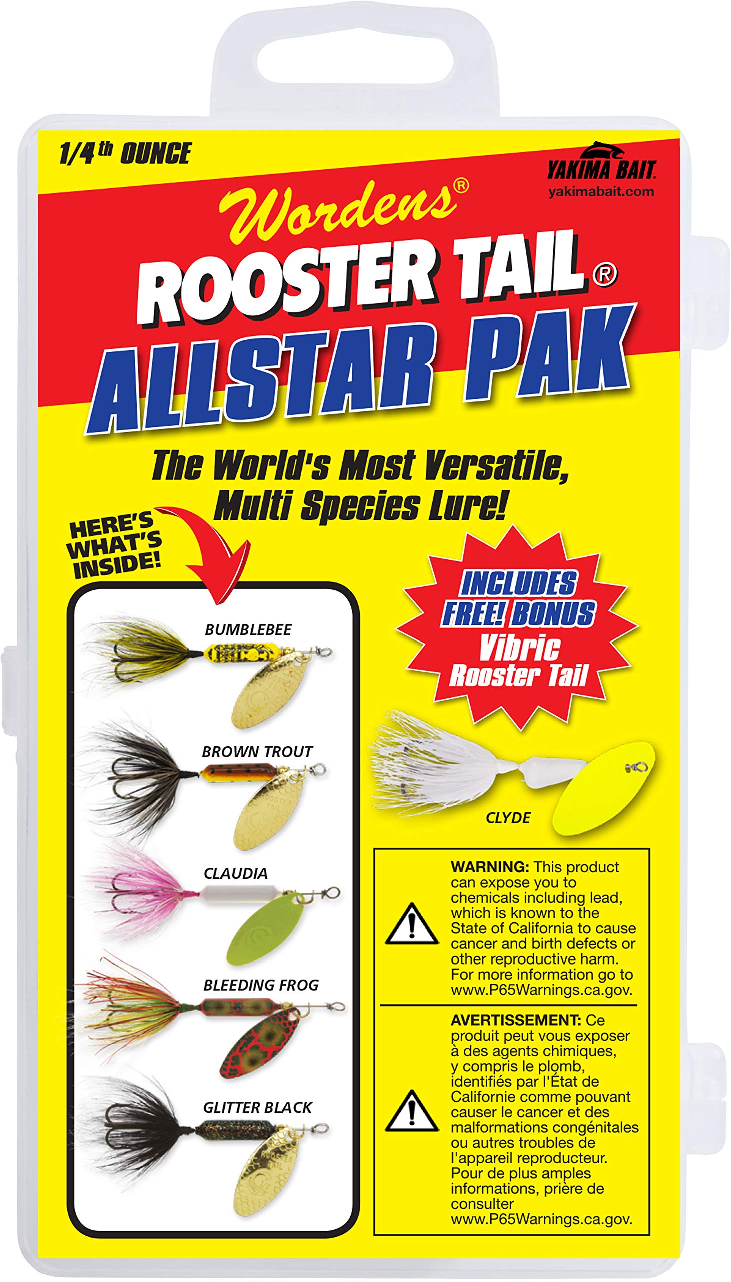 Yakima Bait Rooster Tail 1/4oz Box Kit- Allstar V2 Mix by Yakima Bait