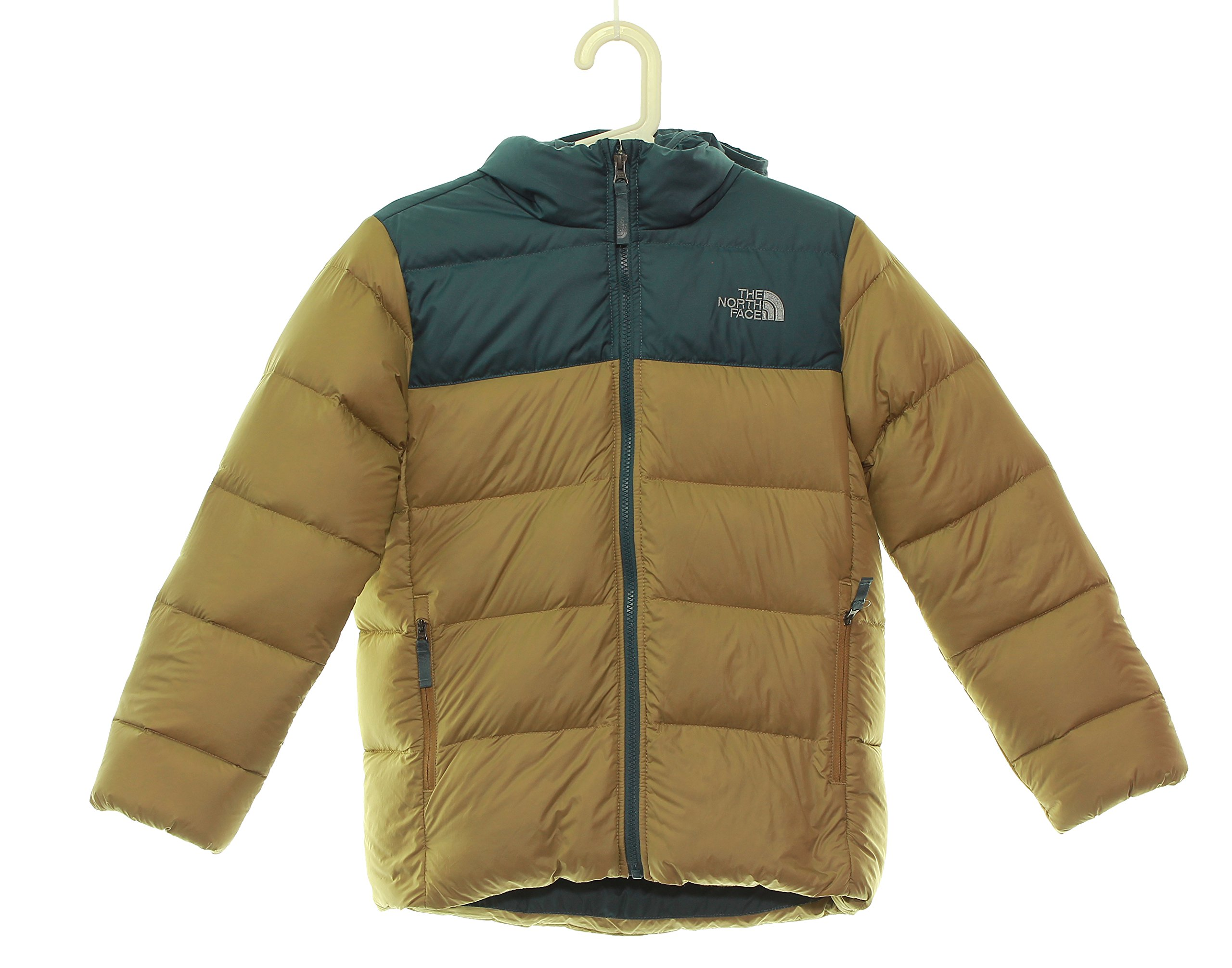 Boy's The North Face Double Down Hoodie Jacket 10/12 Medium Khaki by No Warranty The North Face