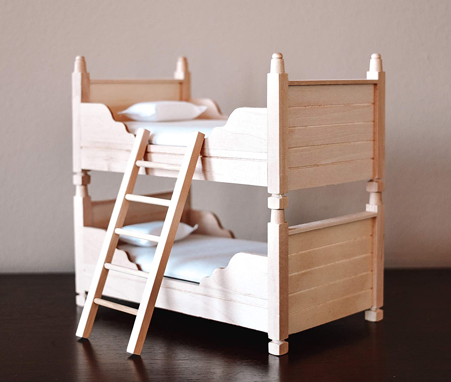 Macy Mae 1:12 Scale Dollhouse Bunk Beds. Must Have Miniature Doll House Accessory.