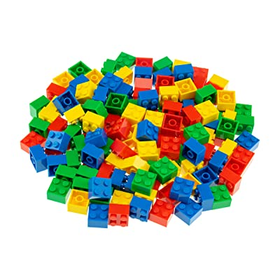 Strictly Briks Classic Bricks 144 Piece 2x2 Blue, Green, Red, and Yellow Building Brick Creative Play Set - 100% Compatible with All Major Brick Brands: Toys & Games