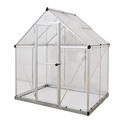 Modernistisk Amazon.com : Palram Nature Series Hybrid Hobby Greenhouse - 6' x 4 AC01