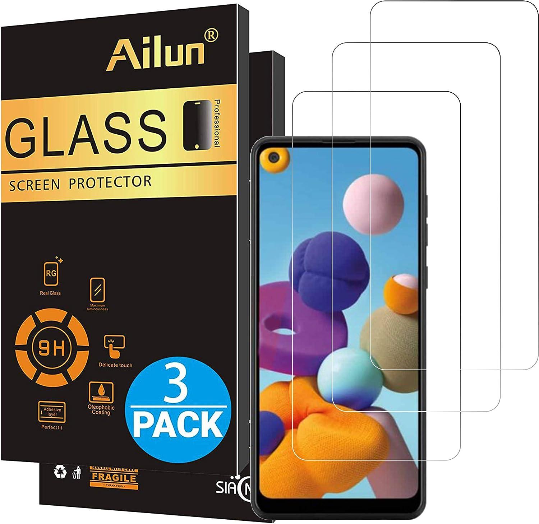 3 vidrios templadois para Samsung Galaxy A21s 0,33 mm