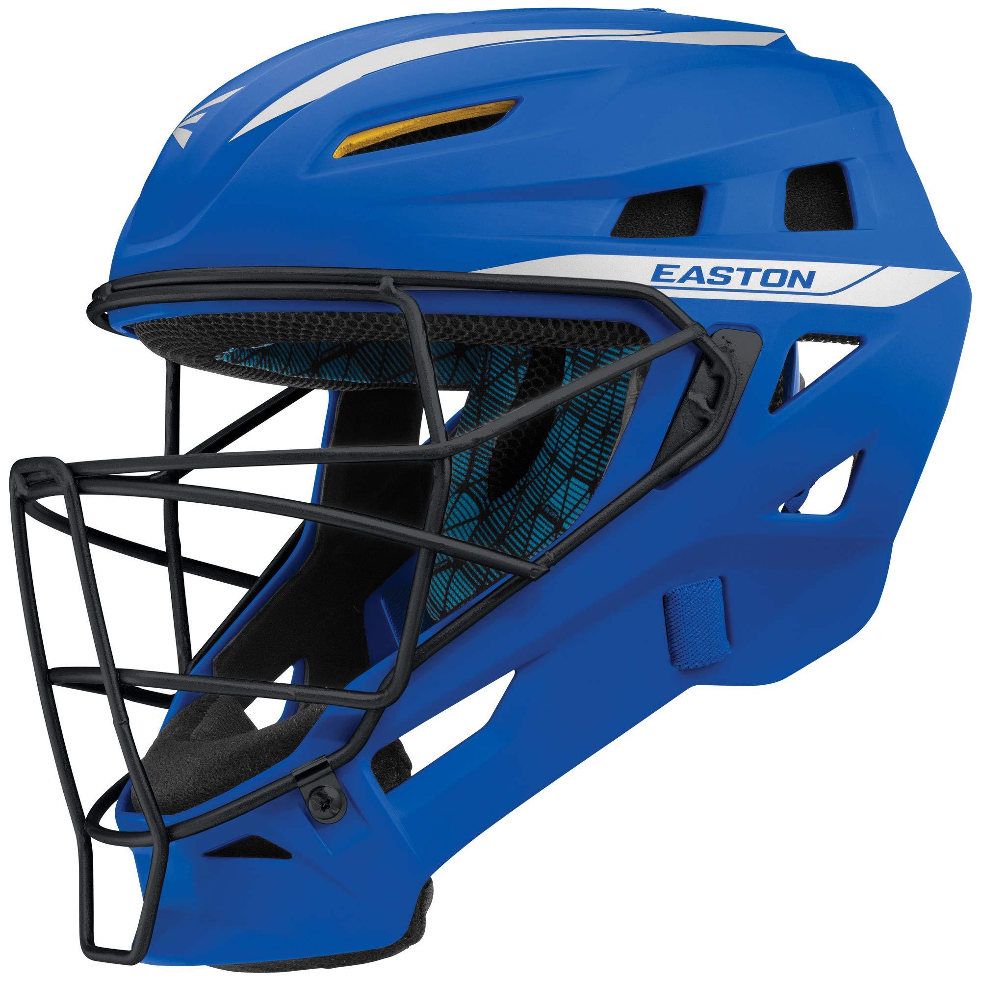 Easton Pro x Catchers Helmet Pro-X C-Helmet RY/Sl S, Red/ Silver, Small by Easton