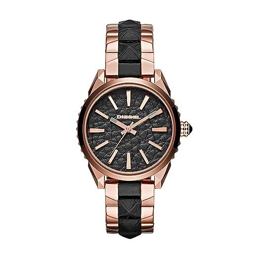 6251609767a2 Diesel - MD rd blk rog BR - Reloj - Rose Gold-Coloured Black  Amazon.es   Relojes