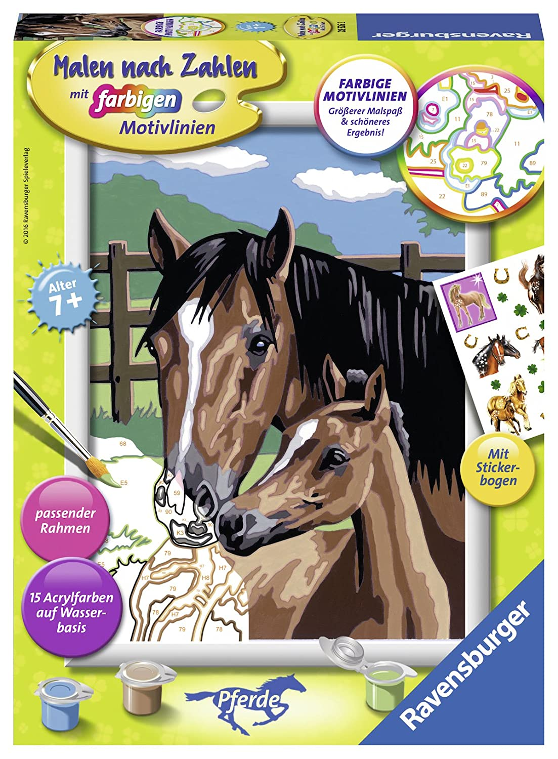 Ravensburger 283262 'Horse with Foal Painting By Numbers Set